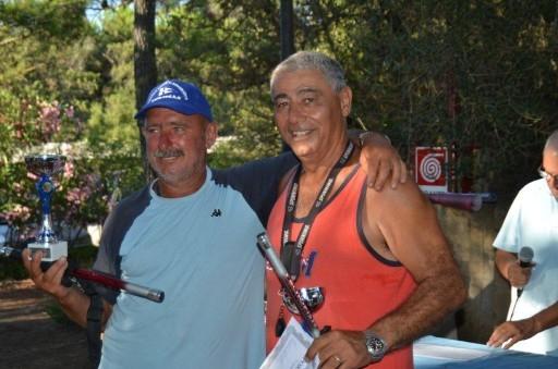 Gara di Bolentino 2013 -Primi classificati Simoni Graziano e Sportiello Giovanni